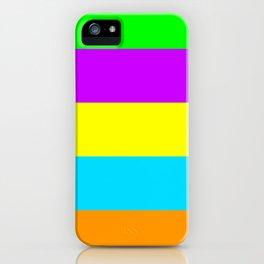 Neon Mix #4 iPhone Case