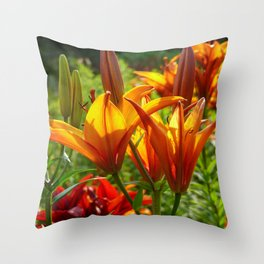 Iris Flowers - For a beautiful day Throw Pillow