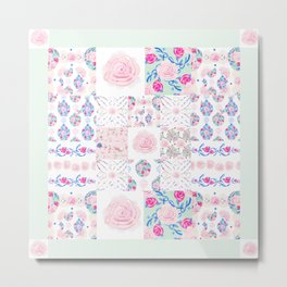 A Shabby Chic Patchwork Metal Print