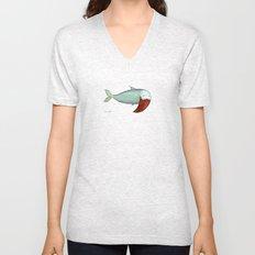 fish with beard Unisex V-Neck