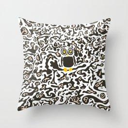 Hidden owl Throw Pillow