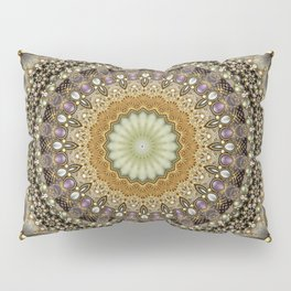Antique Jeweled Mandala Pillow Sham