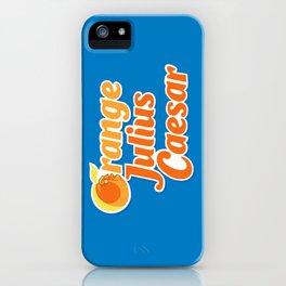 Orange Julius Caesar iPhone Case