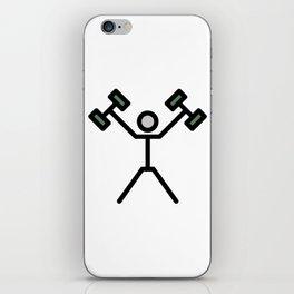 2 Dumbbells Cute Gift Idea iPhone Skin