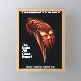 Halloween Movie Poster - the night he come home Framed Mini Art Print
