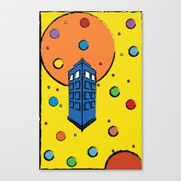 Pop Art Tardis Canvas Print