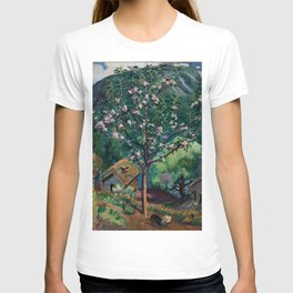 Apple Tree and Daffodils in Bloom alpine landscape painting by Nikolai Astrup T-shirt