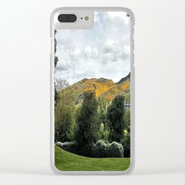 The Mountains Of Edinburgh Scotland Clear iPhone Case