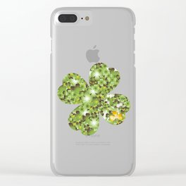 Gold Clover Clear iPhone Case