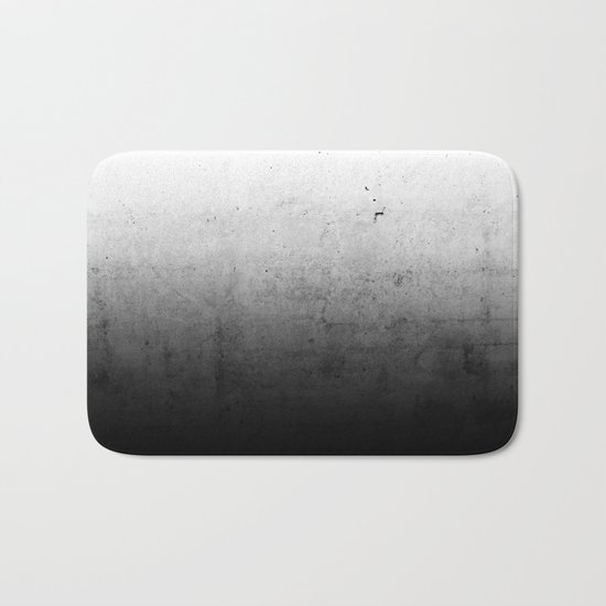 Black Ombre Concrete Texture Bath Mat