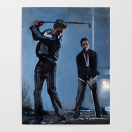Tyler Durden and the Narrator - Golfing Buddies - Fight Poster