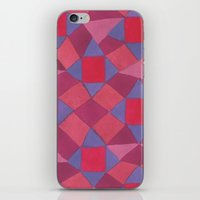 quilt iPhone & iPod Skins featuring Quilt by leah reena goren