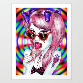 Neon Lolita Art Print