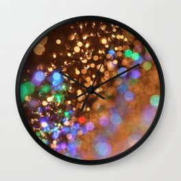 Chocolate Space Party Wall Clock