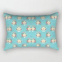 Fashion Flower Pattern Art Design Rectangular Pillow