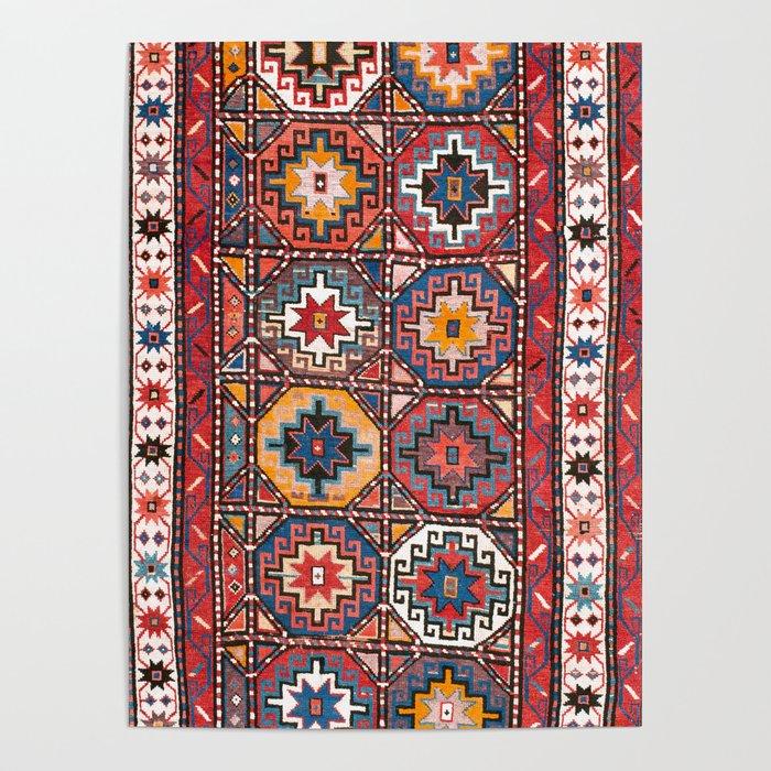 Karabakh Antique South Caucasus Azerbaijan Rug Print Poster By Vickybragomitchell Society6