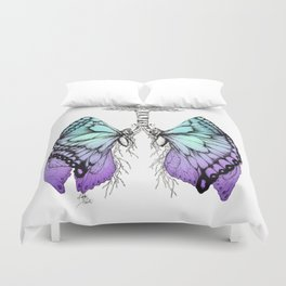 Butterfly Lungs Blue Purple Duvet Cover