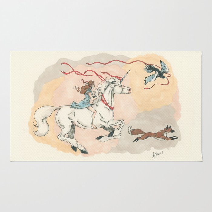 Cadence and the Unicorn Rug
