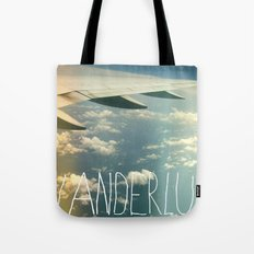 wanderlust airplane Tote Bag