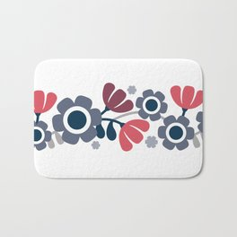 Simple flowers Bath Mat