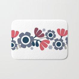 Simple flowers Bath Mat