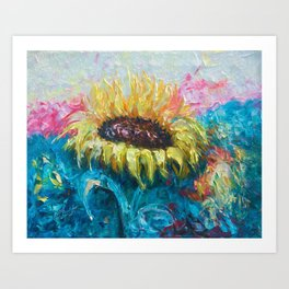 Sunny Flower by Lena Owens Art Print