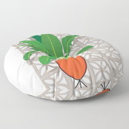 Breeze Block Wall and Mod Planter Floor Pillow