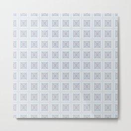 Modern Life Pattern Mauve Blue Metal Print