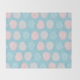 Pastel Brains Pattern Throw Blanket