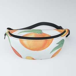 Watercolor Peaches Pattern Fanny Pack