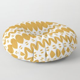 Icelandic Knit Geometric Pattern in Cream and Dark Mustard Floor Pillow
