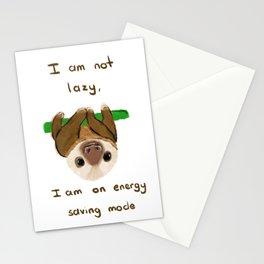 I'm not lazy Stationery Cards