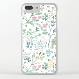 Wildflowers 2 Clear iPhone Case