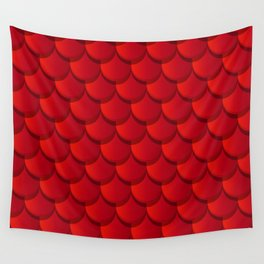 Red clay roof tiles texture Wall Tapestry
