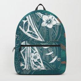 Hawaiian - Samoan - Polynesian Tribal Print Backpack