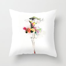 woman fashion Throw Pillow