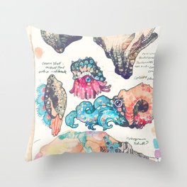 Sketchbook - Sea gizmos Throw Pillow