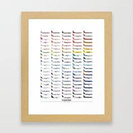 Liveries (by color) Framed Art Print