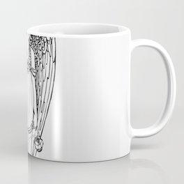 Vintage Victorian stye archangel engraving Coffee Mug