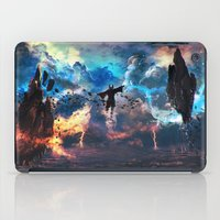 airbender iPad Cases featuring Avatar: The Last Airbender - Aang @ Avatar State - Fan Art by Kenwoodh