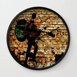 Sneaky Cellist Wall Clock
