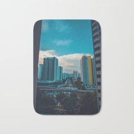 Downtown City Scene (Color) Bath Mat