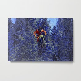 Finish Line Jump - Motocross Racing Champ Metal Print