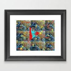 Abstracted Sex. Framed Art Print