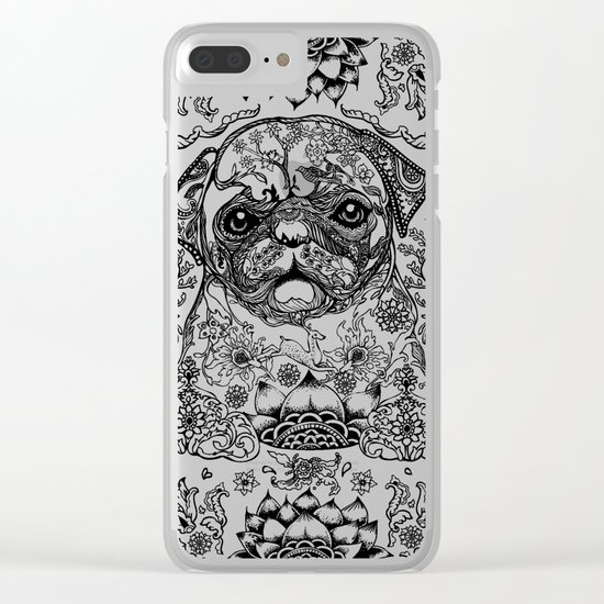 Persian Pug Clear iPhone Case