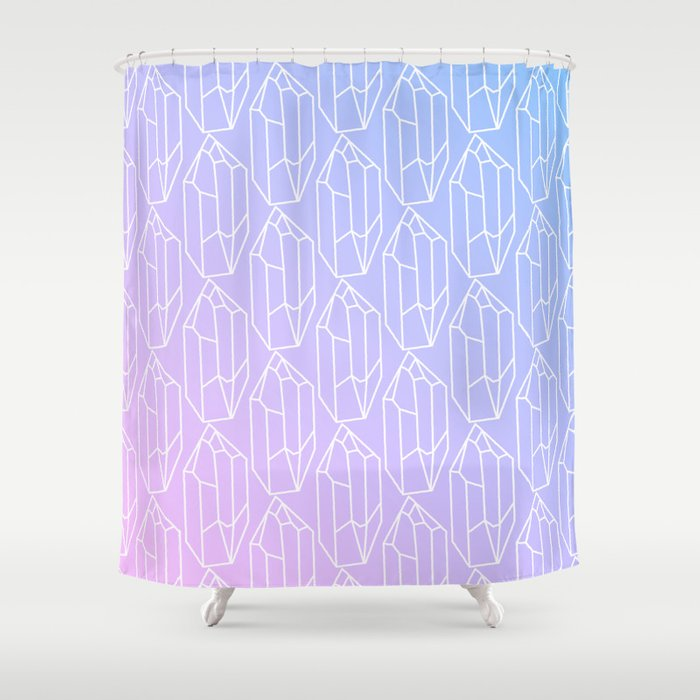 Crystal Pattern Shower Curtain