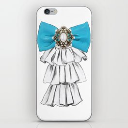 Versailles Style Riffle Jabot Painting (bow tie) T-shirt iPhone Skin