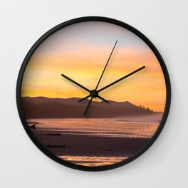 Long Beach Sunrise Wall Clock