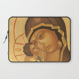 Orthodox Icon of Virgin Mary and Baby Jesus Laptop Sleeve