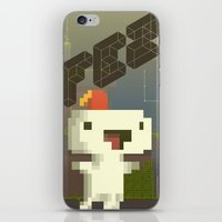 fez iPhone & iPod Skins featuring FEZ: Gomez by Retro Zombie